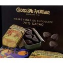 Hojas de chocolate 70%, lata de 30 gr - Xocolates Amatller