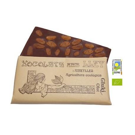 Xocolata amb llet i ametlles - 100 gr - Gluki