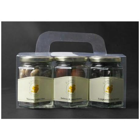 Pack, 3 pots fruits secs xocolata- 270 gr