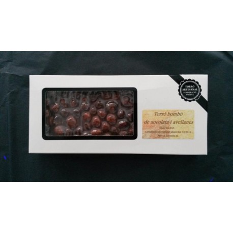 Torró xocolata i avellanes - 300 gr -Apícola Gironina