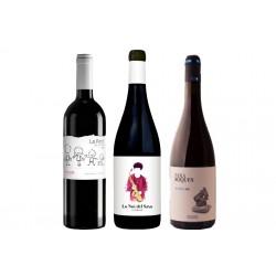Caixa de 3 ampolles de vi negre - diferents DO