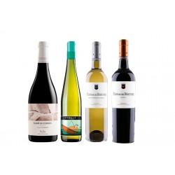 Caixa de 4 ampolles de vi Empordà - 2 vi blanc i 2 negre