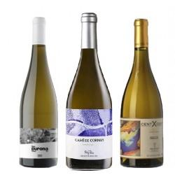 Caixa de 3 ampolles de vi blanc - diferents DO
