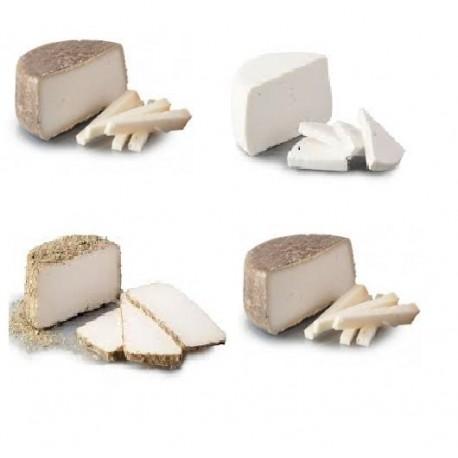 4 Mitgos formatges de cabra diferents a escollir - 4 x 0,250Kg - Mas Garet