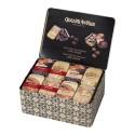 Caixa metàlica amb 40 llaunes de fulles de xocolata, 40x35 gr - Xocolates Amatller