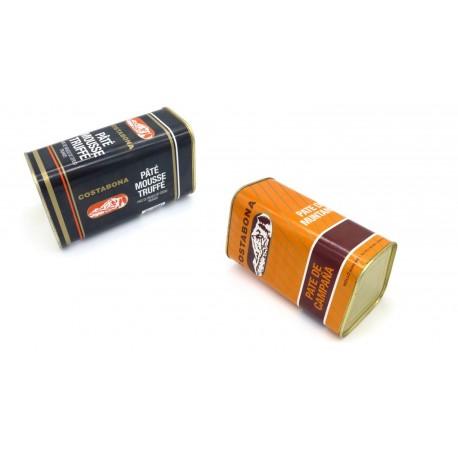 2 llaunes grans paté - Campanya i mousse trufat - 2x1,3 kg - Costabona