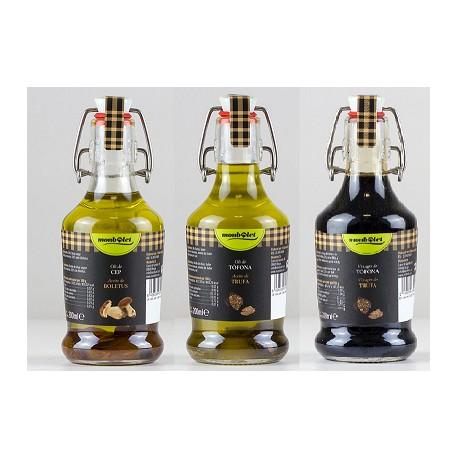 2 Oli de ceps + 2 oli de tòfona + 2 vinagre de tòfona - 6x200 ml, Monbolet