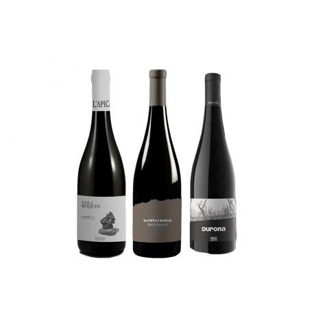 Caja de 3 botellas de vino tinto - DO Penedès