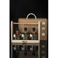 Regalo, estanteria aceite esencias, 3 diferentes de 250 ml - Aceite Ermitage