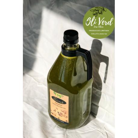 Aceite Verde sin filtrar - Caja con 4 garrafas de 2l - Ermitage
