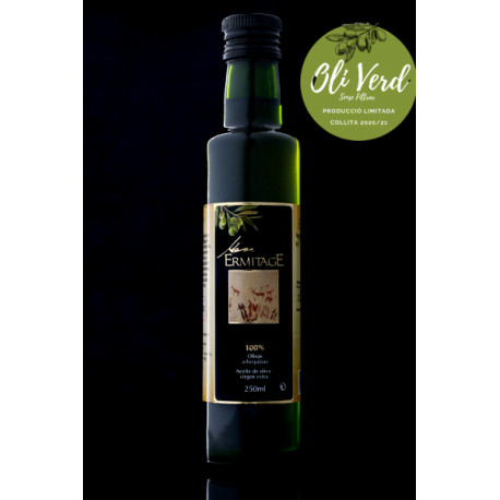 Aceite Verde sin filtrar - Caja con 6 botellas de 500 ml - Ermitage